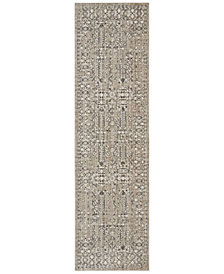 "kathy ireland Home KI34 Silver Screen KI343 2'2"" x 7'6"" Runner Area Rug"