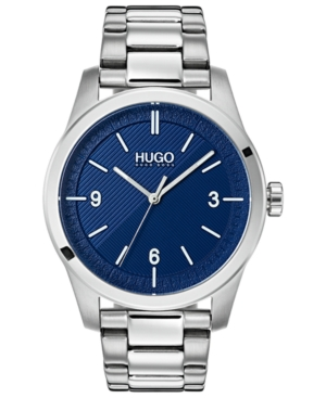 Hugo Men's #Create Stainless Steel Bracelet Watch 40mm