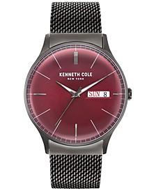 Men's Gunmetal Gray Stainless Steel Bracelet Watch 44mm