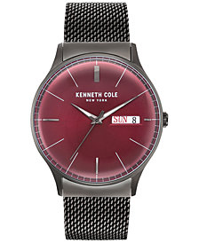Kenneth Cole New York Men's Gunmetal Gray Stainless Steel Bracelet Watch 44mm