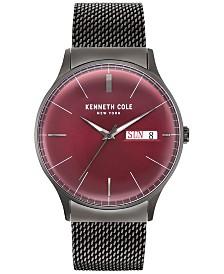 Kenneth Cole New York Men's Gunmetal Gray Stainless Steel Bracelet Watch 44mm