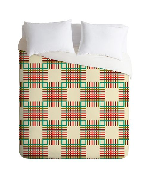 Deny Designs Holli Zollinger Cross Hatch Color Queen Duvet Set