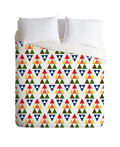 Deny Designs Holli Zollinger Bright Pennant King Duvet Set