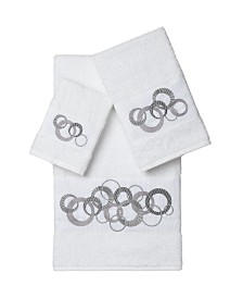 Linum Home Annabelle 3-Pc. Embellished Towel Set