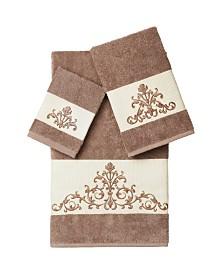 Linum Home Scarlet 3-Pc. Embellished Towel Set