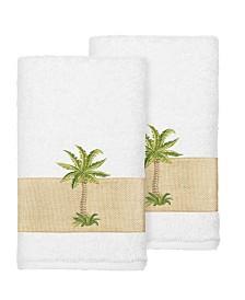 Linum Home Colton 2-Pc. Embellished Hand Towel Set