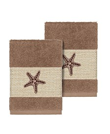 Lydia 2-Pc. Embellished Washcloth Set