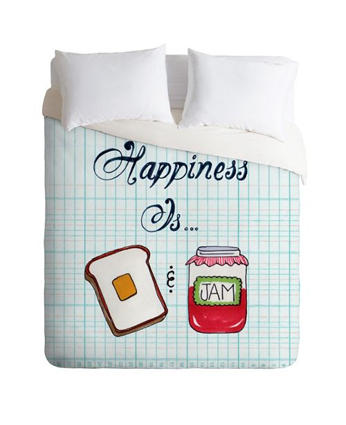 Deny Designs Heather Dutton Happiness Is Toast And Jam Queen Duvet Set