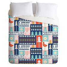 Deny Designs Heather Dutton Christmas Collage Chill Twin Duvet Set