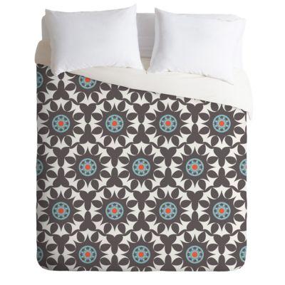 Kess InHouse Nina May Navano Throw Pillow 18 x 18 Orange Tribal