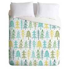 Deny Designs Heather Dutton Oh Christmas Tree Frost Queen Duvet Set