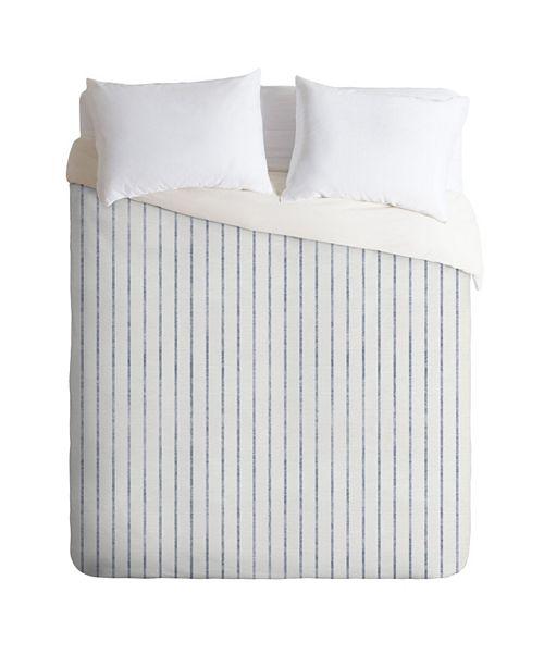 Deny Designs Holli Zollinger Aegean Wide Stripe King Duvet Set