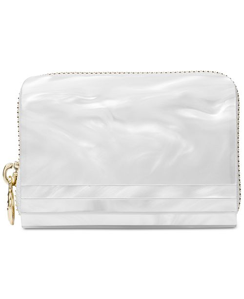 a5055909c716 Michael Kors Barbara Marble Zip Around Coin Card Case & Reviews ...