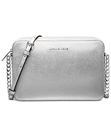 MICHAEL Michael Kors Jet Set Travel Metallic Leather Crossbody