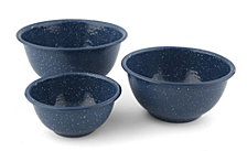 Thirstystone Blue Speckle Set of 3 Round Bowls