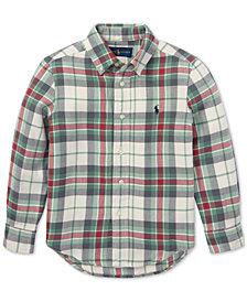 Polo Ralph Lauren Toddler Boys Plaid Cotton Twill Shirt