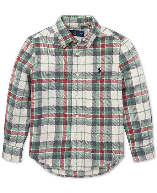 03c6fd276 Polo Ralph Lauren Toddler Boys Plaid Cotton Twill Shirt & Reviews ...
