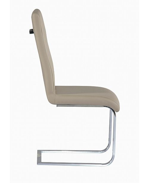 Chintaly Bella Luna Cantilever Chair with Back Handle (Set of 2)