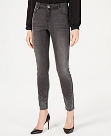 I.N.C. Studded Skinny Jeans, Created for Macy's