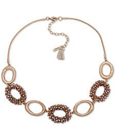 """lonna & lilly Gold-Tone Beaded Link Collar Necklace, 16"""" + 3"""" extender"""