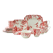 222 Fifth Christmas Lane 16 Piece Dinnerware Set