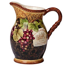 Certified International Gilded Wine Pitcher