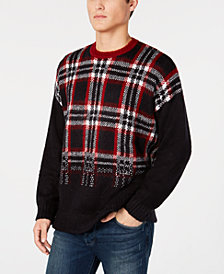 A|X Armani Exchange Men's Plaid Sweater