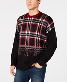 A X Armani Exchange Men's Plaid Sweater