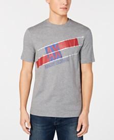 A|X Armani Exchange Men's Diagonal Logo Print T-Shirt, Created for Macy's