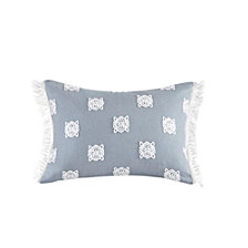 "Echo Design Venus 14""x18"" Embroidered Cotton Oblong Decorative Pillow"