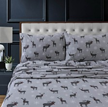 Checkered Buck Heavyweight Cotton Flannel Printed Extra Deep Pocket King Sheet Set