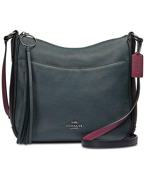 817827ce2de COACH Colorblock Chaise Crossbody in Pebble Leather - Handbags ...