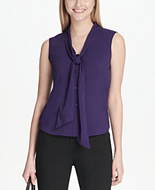 Calvin Klein Tie-Neck Top