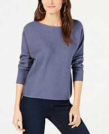 I.N.C. Ribbed Dolman-Sleeve Sweater, Created for Macy's