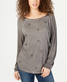 I.N.C. Sequin Star Long-Sleeve T-Shirt, Created for Macy's