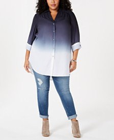 I.N.C. Plus Size Ombré Tunic, Created for Macy's