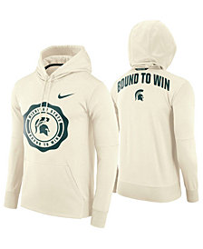 Nike Men's Michigan State Spartans Rivalry Therma Hooded Sweatshirt