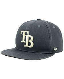 '47 Brand Tampa Bay Rays Garment Washed Navy Snapback Cap