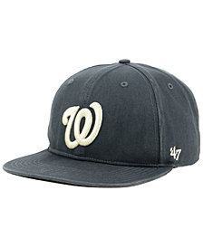 '47 Brand Washington Nationals Garment Washed Navy Snapback Cap