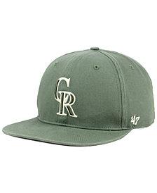 '47 Brand Colorado Rockies Moss Snapback Cap