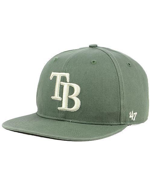 47 Brand Tampa Bay Rays Moss Snapback Cap - Sports Fan Shop By Lids ... de7b4956772