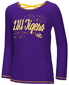 Colosseum LSU Tigers Crosscross Long Sleeve T-Shirt, Girls (4-16)