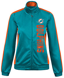G-III Sports Women's Miami Dolphins Backfield Track Jacket