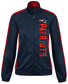 G-III Sports Women's New England Patriots Backfield Track Jacket