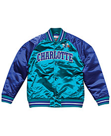 Mitchell & Ness Men's Charlotte Hornets Tough Season Satin Jacket