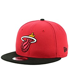 Miami Heat Basic 2 Tone 9FIFTY Snapback Cap