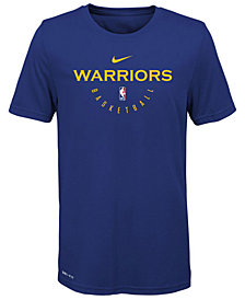 Nike Golden State Warriors Elite Practice T-Shirt, Big Boys (8-20)