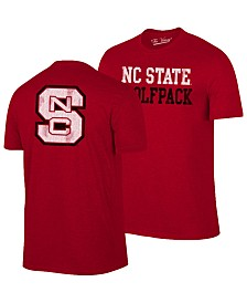 Retro Brand Men's North Carolina State Wolfpack Team Stacked Dual Blend T-Shirt