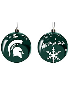 "Memory Company Michigan State Spartans 3"" Sled Glass Ball"