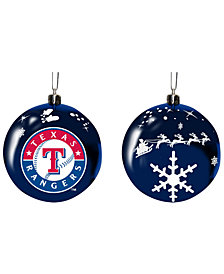 "Memory Company Texas Rangers 3"" Sled Glass Ball"